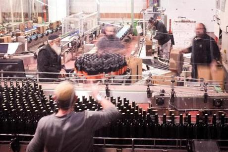 The bottling facility at Golan Heights Winery.
